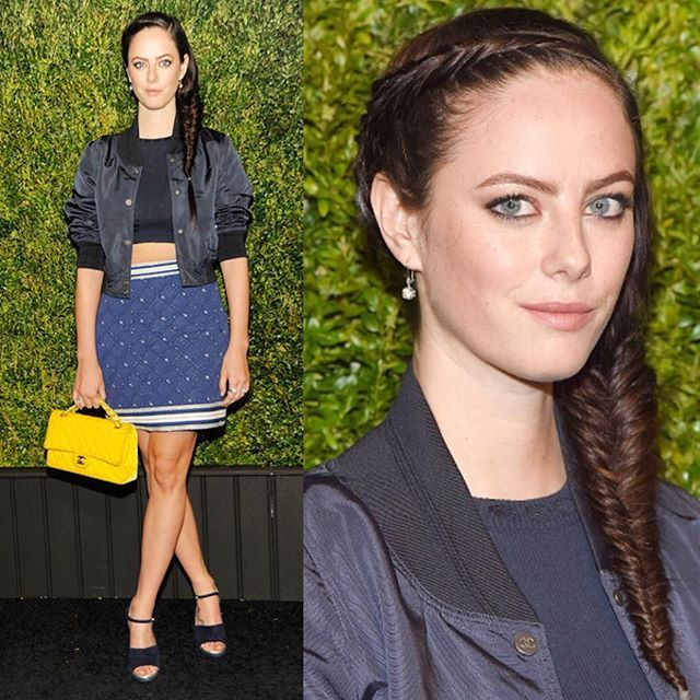 #aboutlastnight @kayascods rocking the dutch wrap around #fishtail I did on her for the @chanelofficial #tribecafilmfestival dinner in #NYC ✨ #chanel #braidinspo #dutchfishtail #kayascodelario