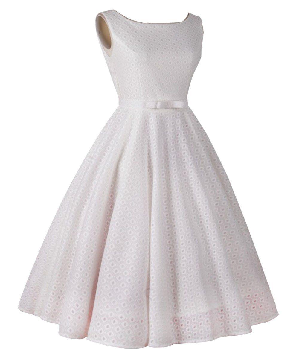 ILover klassischer Weinlese Audrey Hepburn Stil 1950 Rockabilly ...