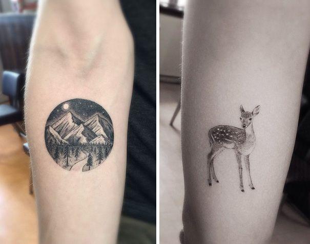 Geometric Fine Line Tattoos By Los Angeles Famous Tattoo Artist Dr Woo Geometric Line Tattoo Line Tattoos Geometric Tattoo