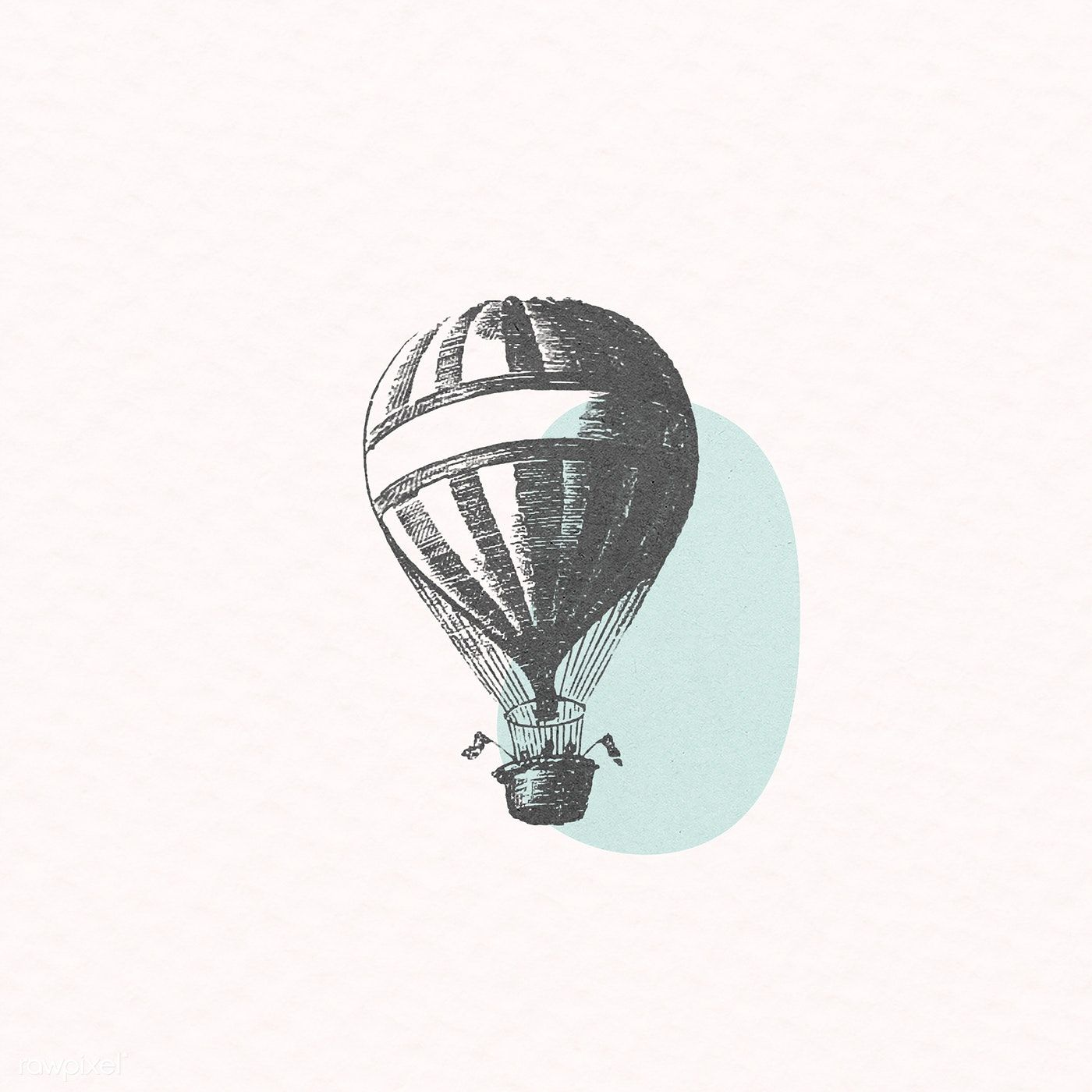 Download Premium Illustration Of Vintage Hot Air Balloon Illustration