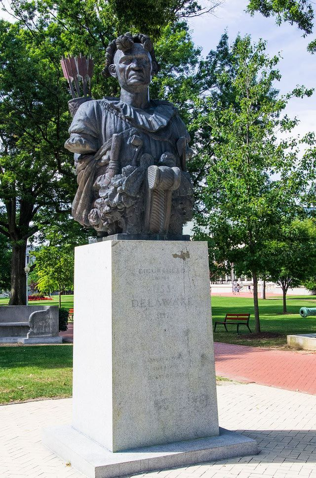 Take a Photo Tour of the U.S. Naval Academy in Annapolis: Tecumseh Statue - U.S. Naval Academy