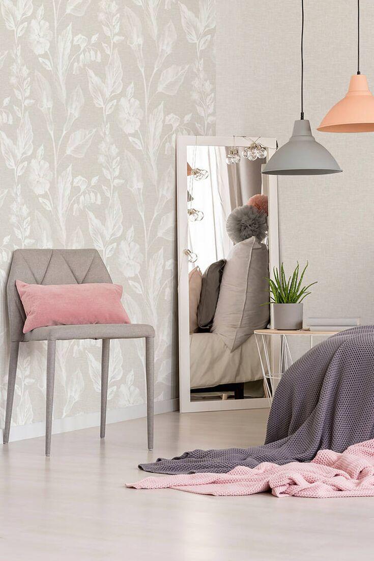 La particolare finitura di questa carta permette l'applicazione anche su pareti che presentano problemi di umidità o muffe. Pin Su Camera