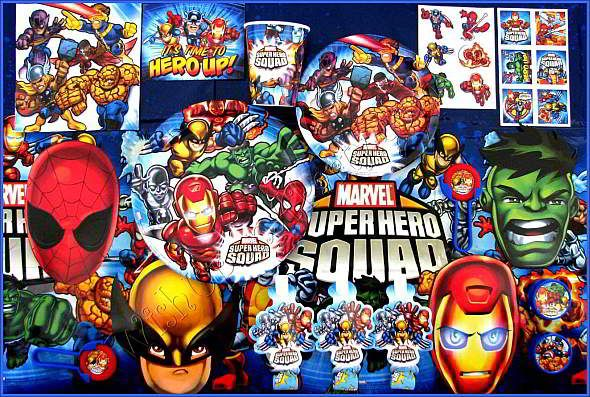 Marvel Super Hero Squad Birthday Party Supplies | All About My ...