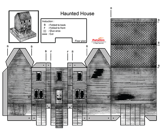 34++ 3d haunted house template inspirations