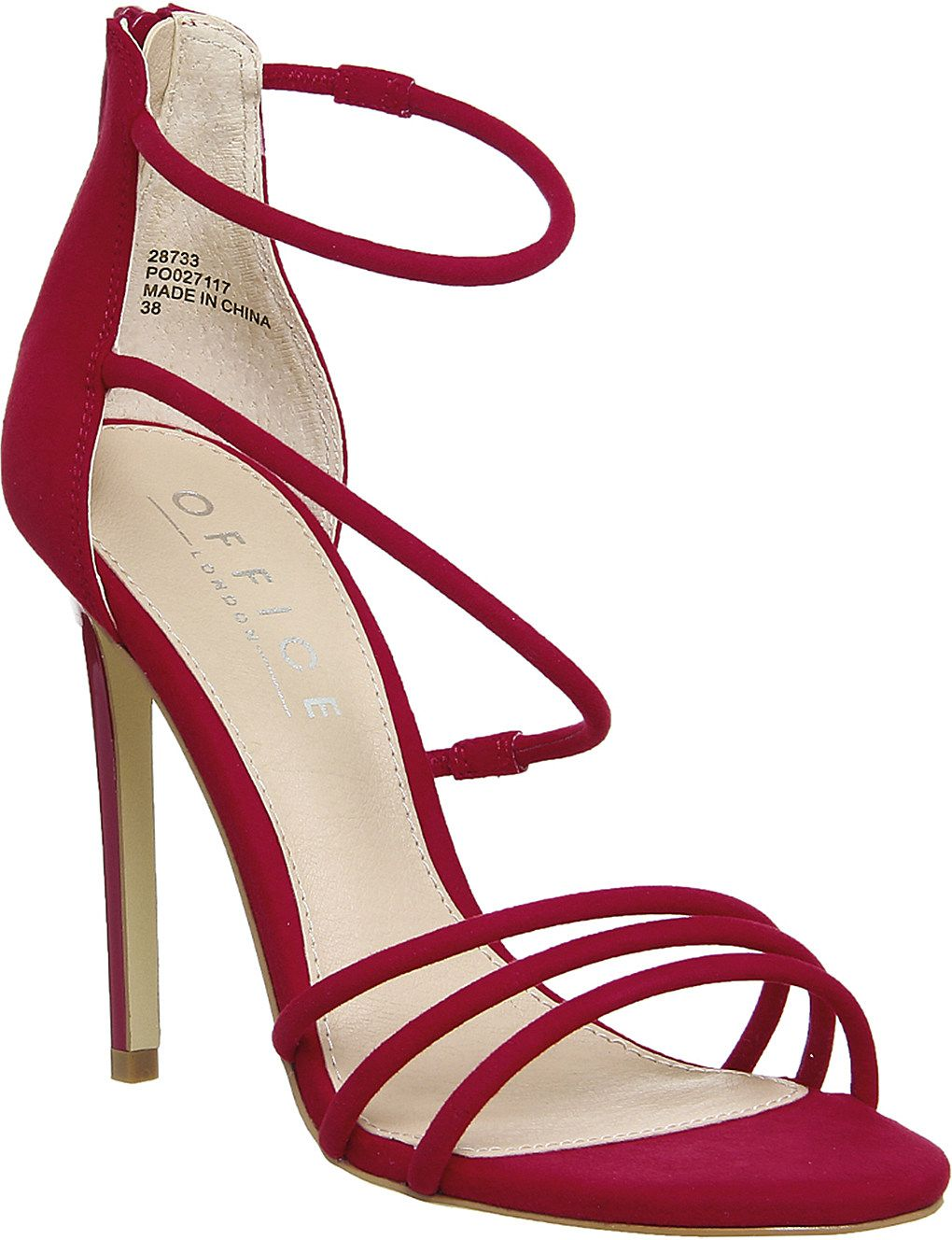 OFFICE - Harness Strappy slim heeled sandals | Selfridges.com