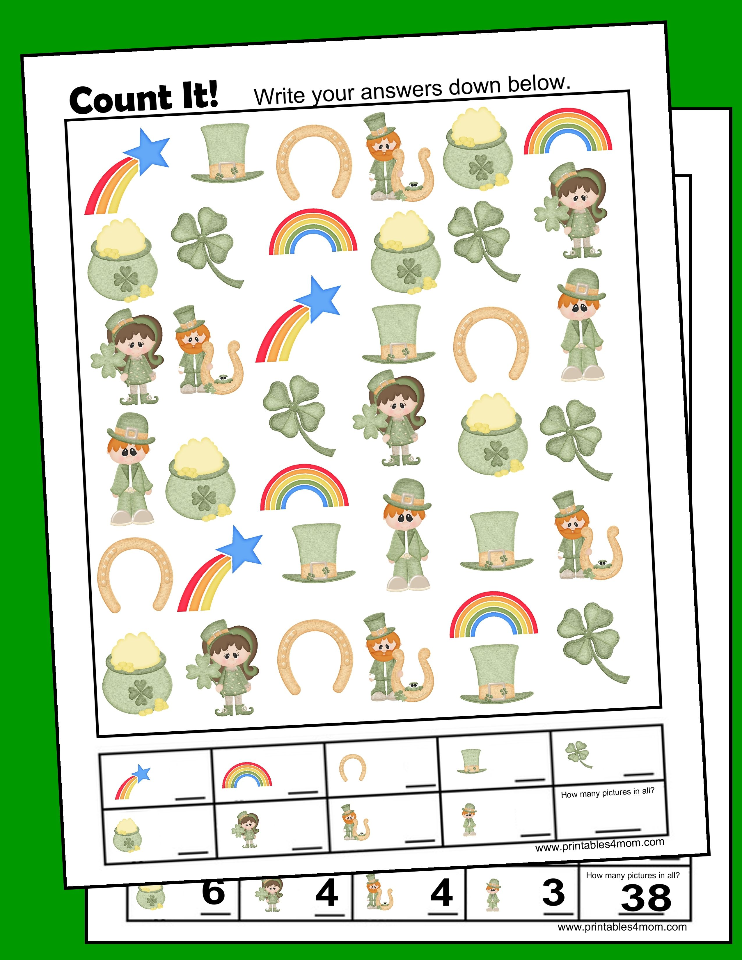 St Patrick S Day I Spy Counting Game