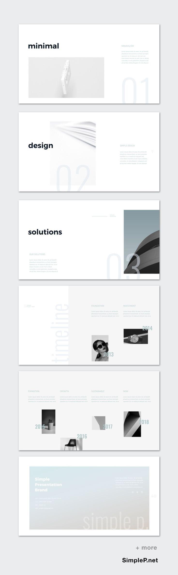 Super Clean Design Zero Presentation Powerpoint Template Ppt