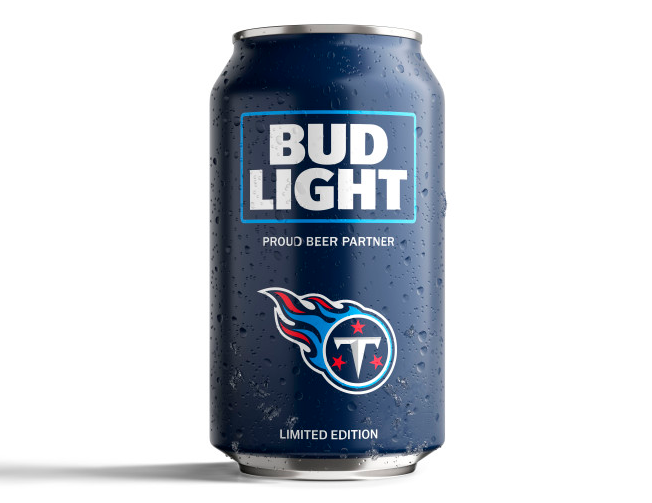Bud Light S Popular Nfl Team Cans Are Back With A New Minimalist Design Bud Light Minimalist Design Nfl