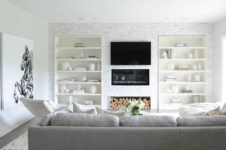 20 Living Spaces With Built In Shelves