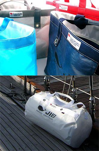 【From & Color】  ●Simple From& Color   セイルクロスを最大に生かすカタチ     JIB バッグの形と色のコンセプトは「シンプル・イズ・ベスト」