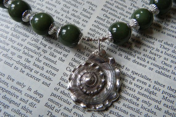 Green Sea Goddess Necklace  Russian Jade and by HollyRowanFern, $455.00