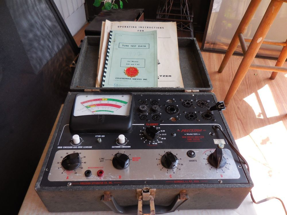 Vintage Precision Pacotronics Model 650 Vacuum Tube Tester