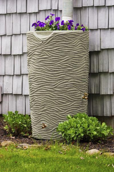 Good Ideas Impressions Palm 65 Gallon Rain Saver – Oak