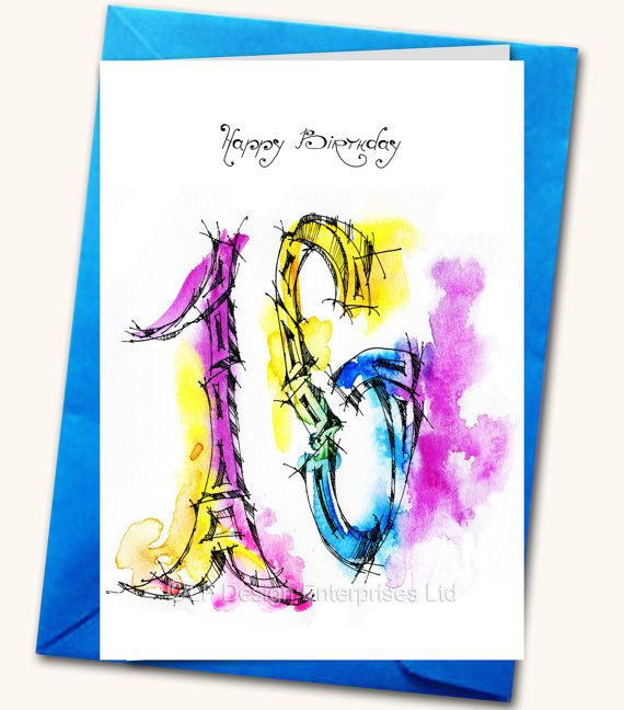 16th birthday greeting card personalised cards by lubafenwickgifts 16th birthday greeting card personalised cards by lubafenwickgifts m4hsunfo