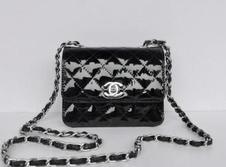 b0056ca6c81411 Chanel-New-Micro-Flap-Bag-1118-Black-Patent-Silver-Hardware-Online ...
