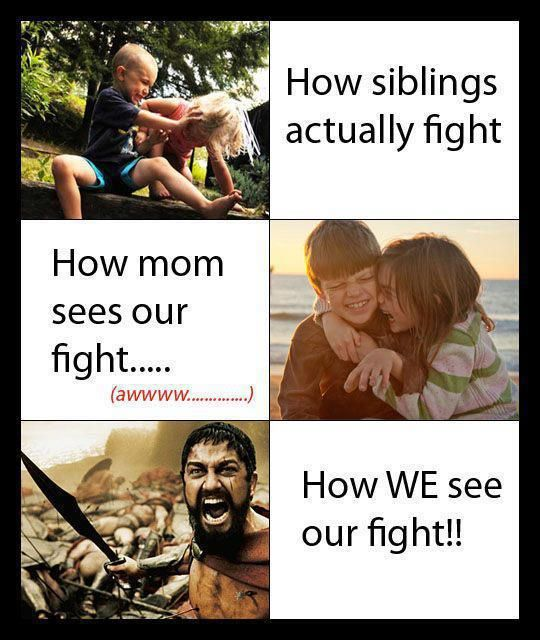 i think everyone sees war when they see me and my sis fight lol