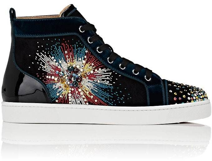 5375f261a6d2 Christian Louboutin Men s Louis On Fire Suede High-Top Sneakers ...