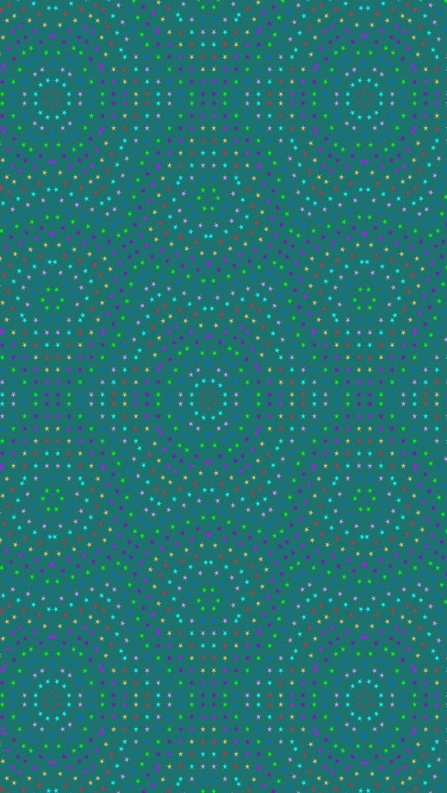 Teal Aqua Psychedelic Star Pattern iPhone 5 wallpapers | Color - Glitter Sparkle Glow Colorful ...