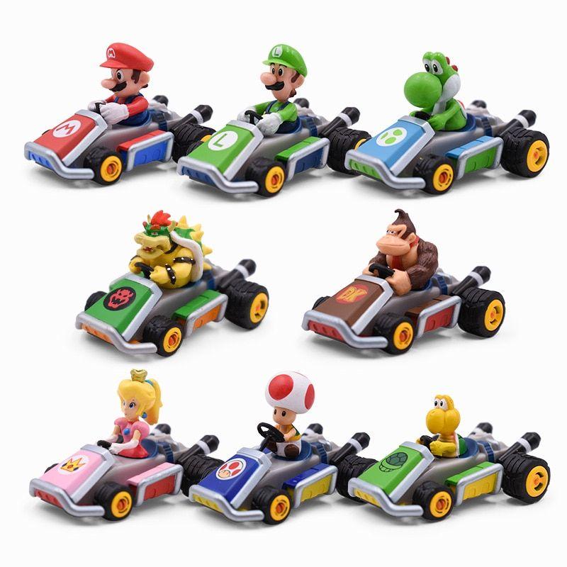 Mario Cart Characters And Cars Mario Toys Super Mario Toys Peach Mario Kart