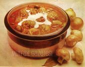 Photo of beef stew with cream-dana yahnisi-kremalı  Beef stew is one …