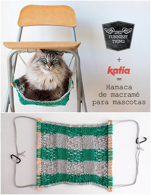 Diy Macrame Cat Hammock Tutorial From 2nd Funniest Thing For
