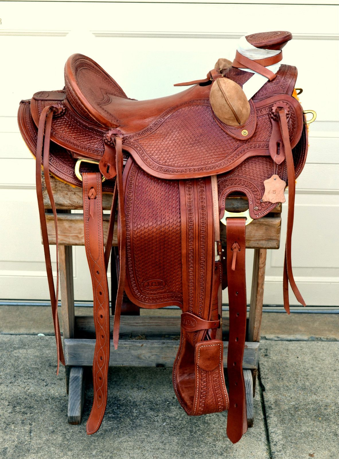 16 Western Buckaroo Roping Ranch Trail Wade A Fork Saddle No