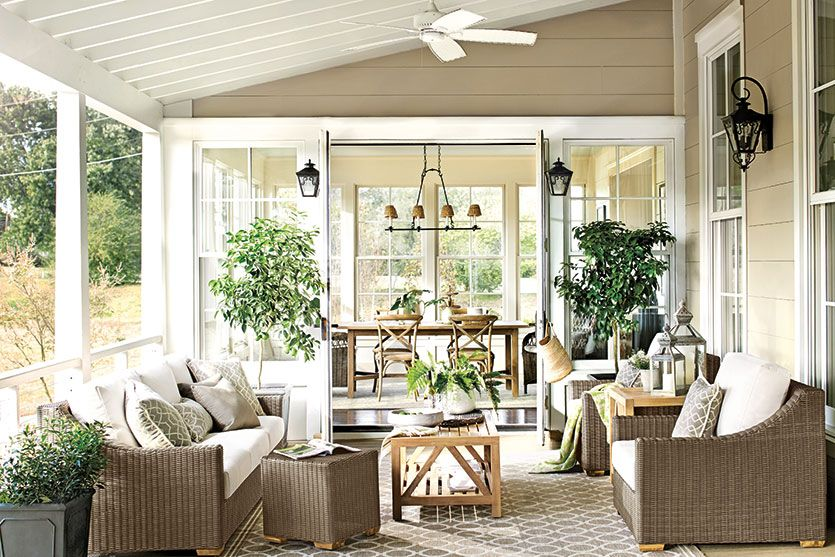 15 Ways To Arrange Your Porch Furniture Porch Furniture Layout Patio Furniture Layout Screened In Porch Furniture