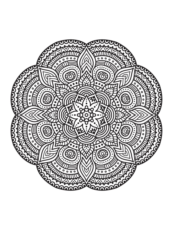 Mandala Mindfulness Colouring Concept