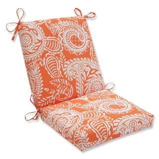 Pillow Perfect Outdoor Indoor Ad Terra Cotta Squared Corners Chair Cushion
