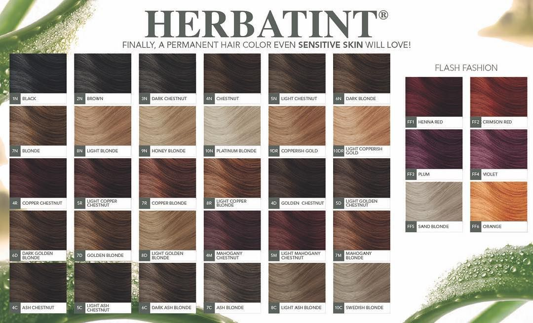 Pin By Lashonda Felton On Herbatint Hair Color Charts In 2019