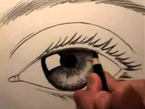 تعليم رسم العين سهل بالقلم الرصاص Drawings My Drawings Eye Drawing