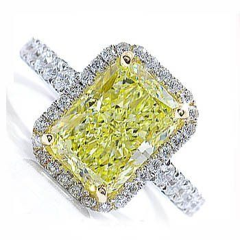 Unique Wedding Rings   Shown: Canary Diamond Ring   Http://www.