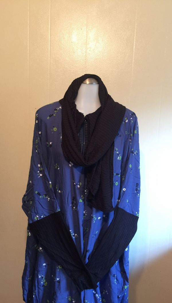 Maxi prayer dress with attached scarf, abayas, kaftan
