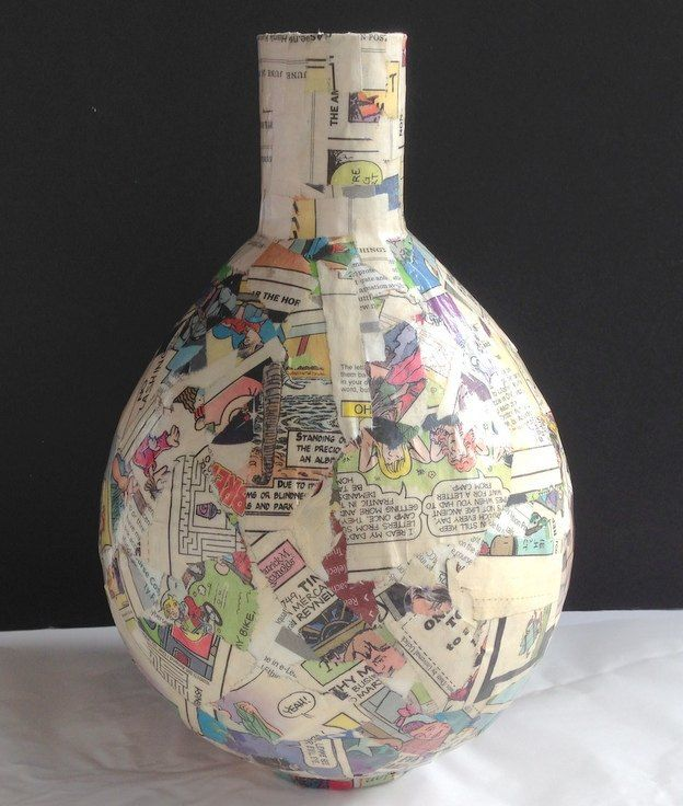 How to Make Paper Mache Vases from Balloons   Papier mache     Hometalk com  decoupage napkins on paper mache vases  decoupage  home decor   woodworking projects