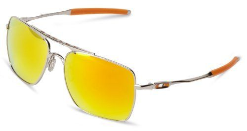 Oakley Mens Deviation OO4061-03 Iridium Square Sunglasses,Polished ...