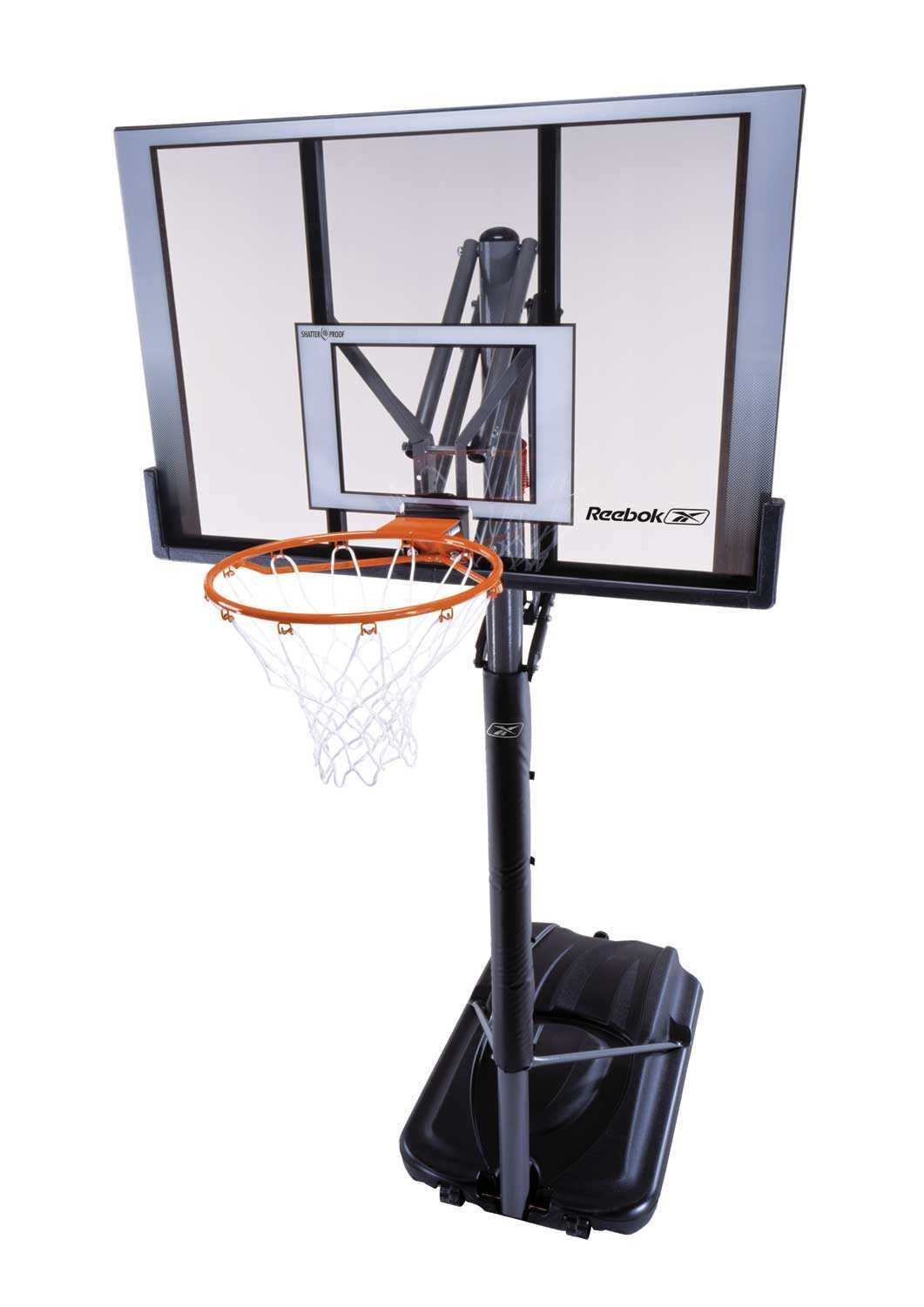 51564 Lifetime Portable Basketball System Reebok Features A 52 X 33 X 1 Steel Framed Shatter Proof Backb Pool Basketball Basketball Goals Swimming Pools