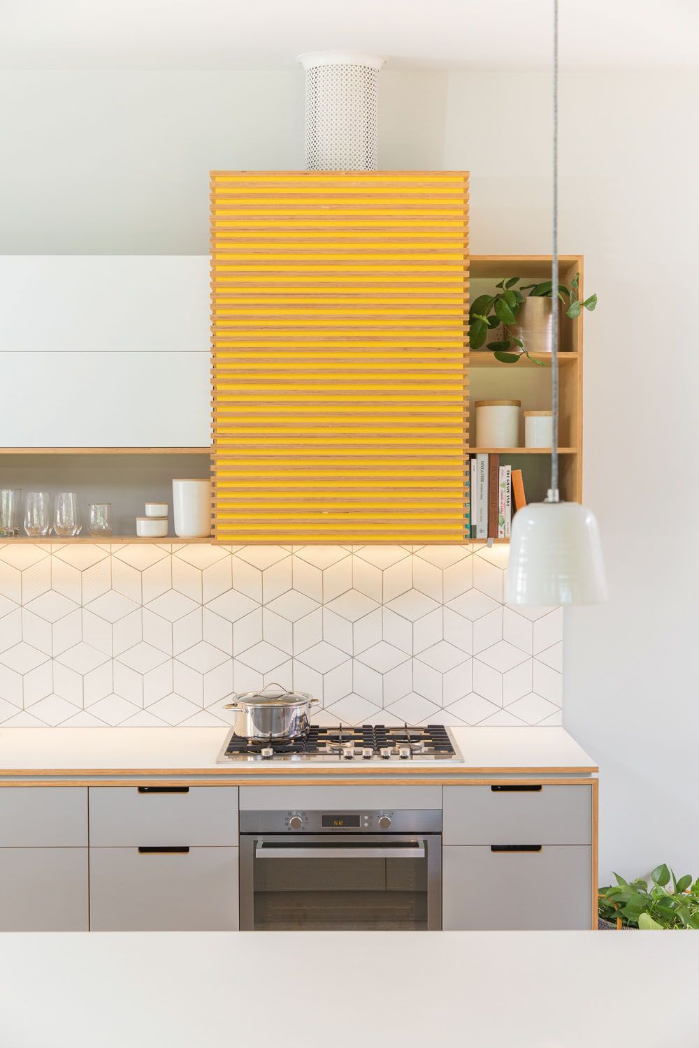 a mix of contemporary design slick white finishes and a dash of sunny yellow are the perfect on kitchen interior yellow and white id=98982