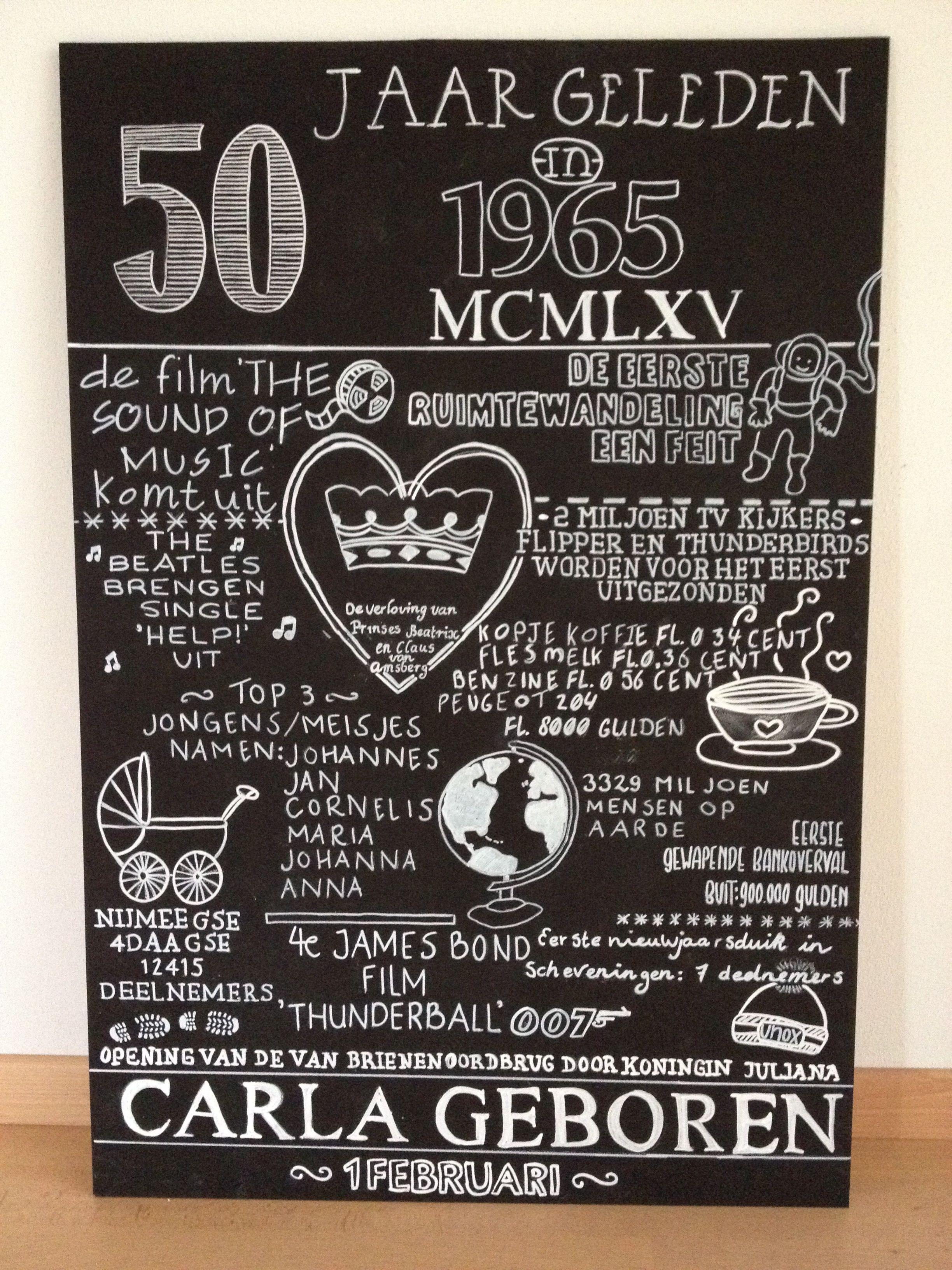 kado moeder 50 jaar Chalkboard 50 jaar! | 50 jaar | Pinterest | Chalkboards, 50th and Gift kado moeder 50 jaar