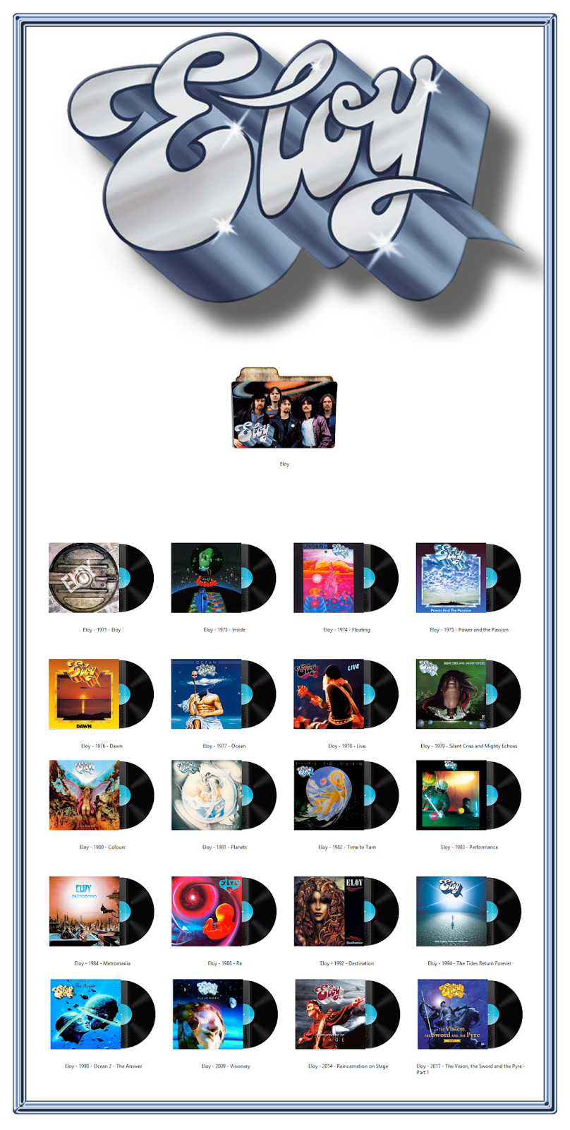 Album Art Icons: Eloy Discography Icons (ICO & PNG)