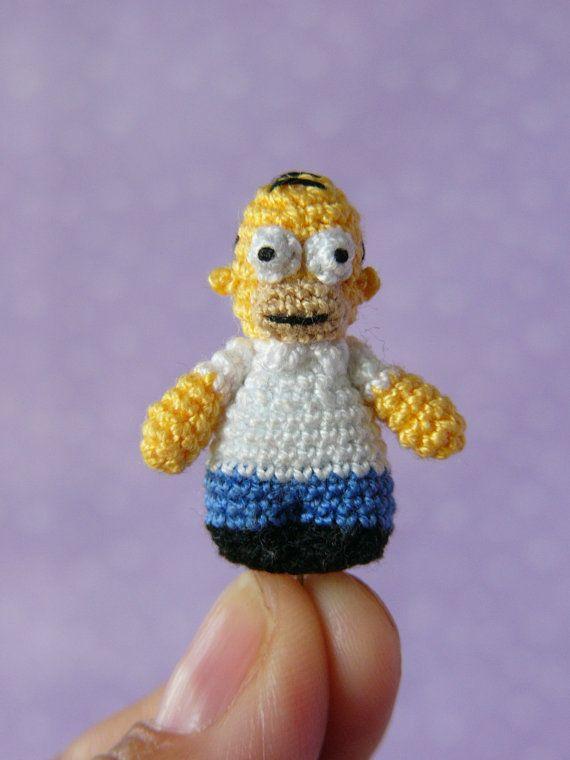 PDF PATTERN Crochet Miniature Homer Simpson by MuffaMiniatures ...