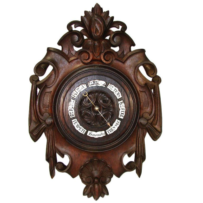 "Old Fashioned Furniture For Sale: Antique Victorian Era Black Forest Carved Oak 19"" Wall"
