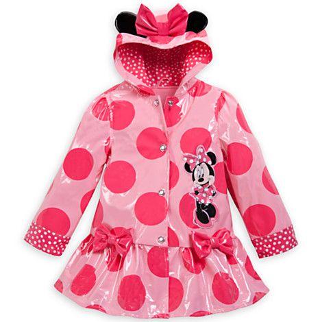 Disney Kids Minnie Mouse Ears Rain Poncho
