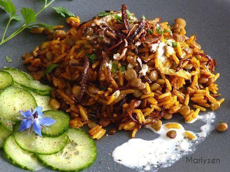 Mujaddara : riz aux lentilles à la libanaise # ...