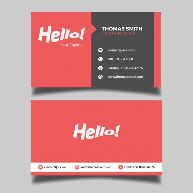 Red business card free vector card banner pinterest business red business card free vector colourmoves