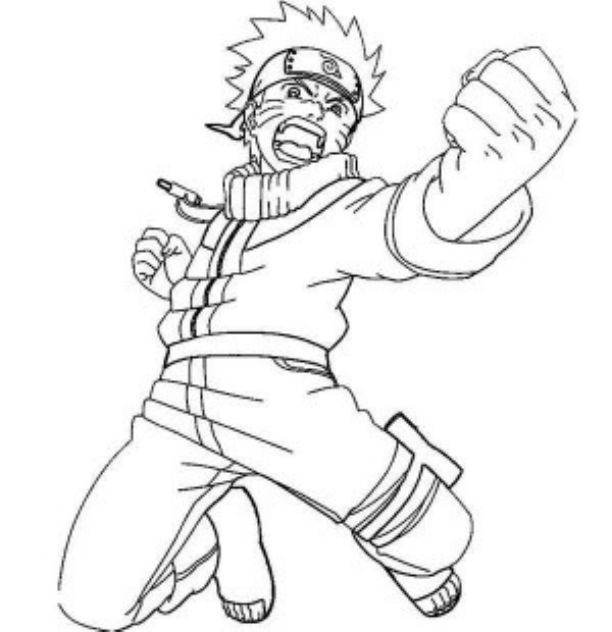 new naruto coloring pages