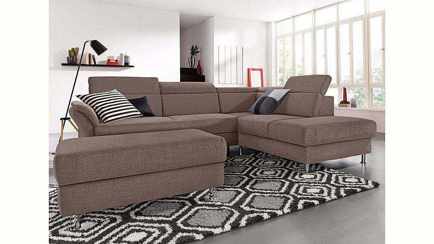 sitmore Polsterecke inklusive Kopfteilverstellung, wahlweise mit - wohnzimmer sofa braun