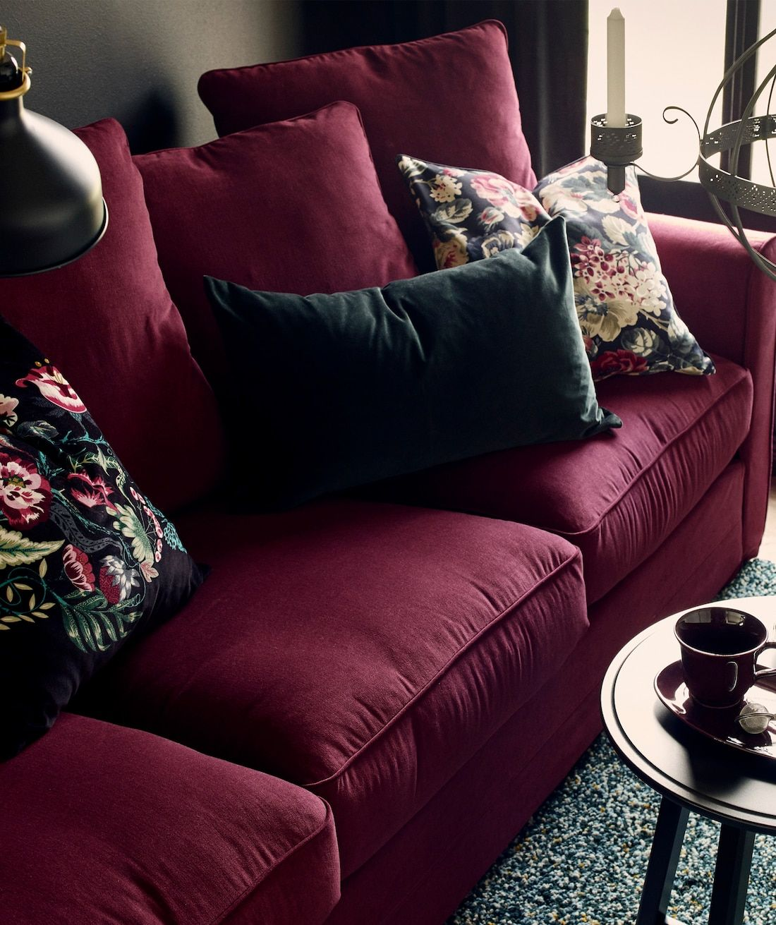 One room, two styles in 2020 | Living room sofa design ...