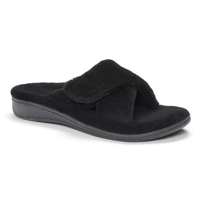 446d26386eec Vionic Orthaheel Black Relax Slipper - Women s