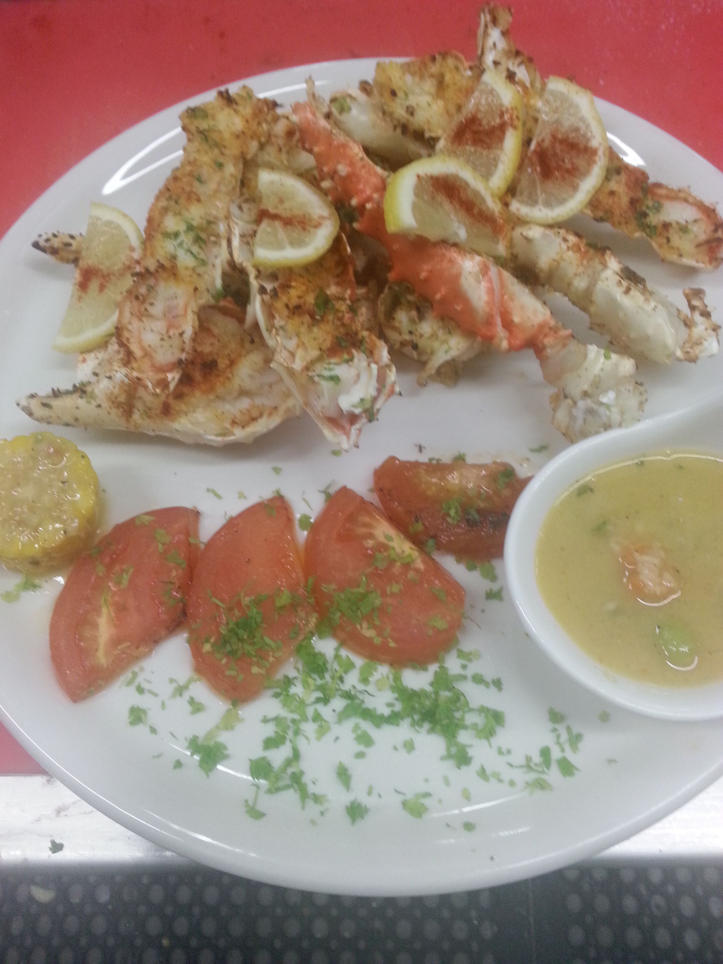 Seafood At Cau De Capitaine Restaurant In Brooklyn Ny