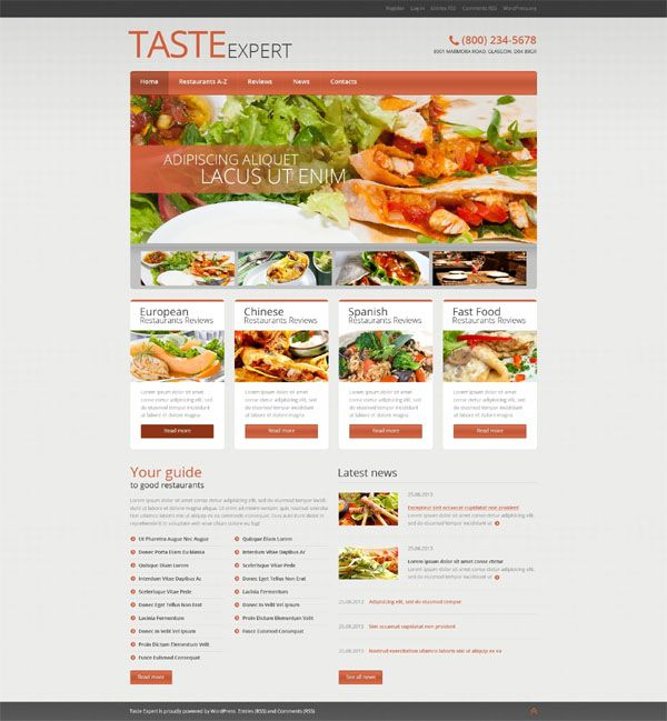 20 free premium restaurant responsive wordpress themes in 2017 forumfinder Choice Image
